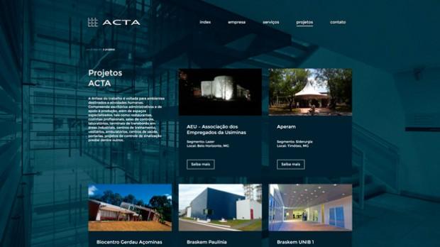 Tela Site Acta Arquitetura