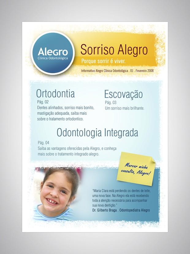Criação de Flyer para a Alegro Clínica Odontológica