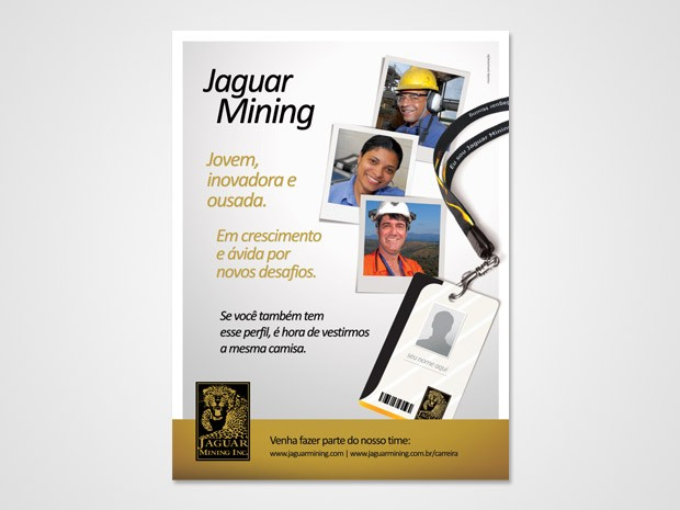 Jaguar - Anúncio Revista Minérios e Minerales