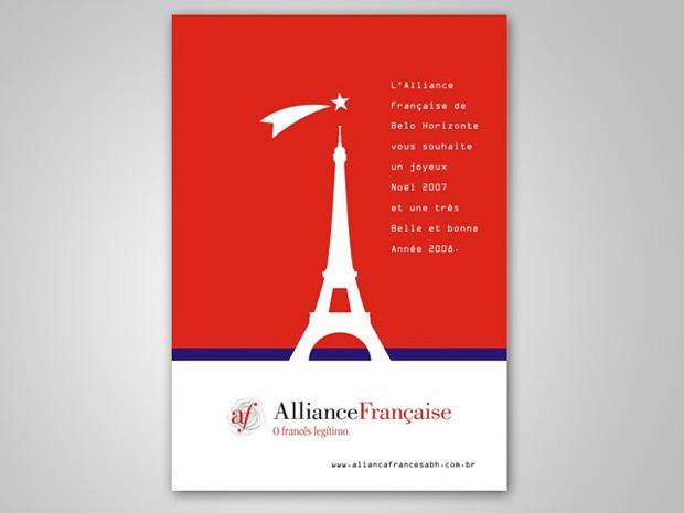 Aliança Francesa - Cartão de Natal