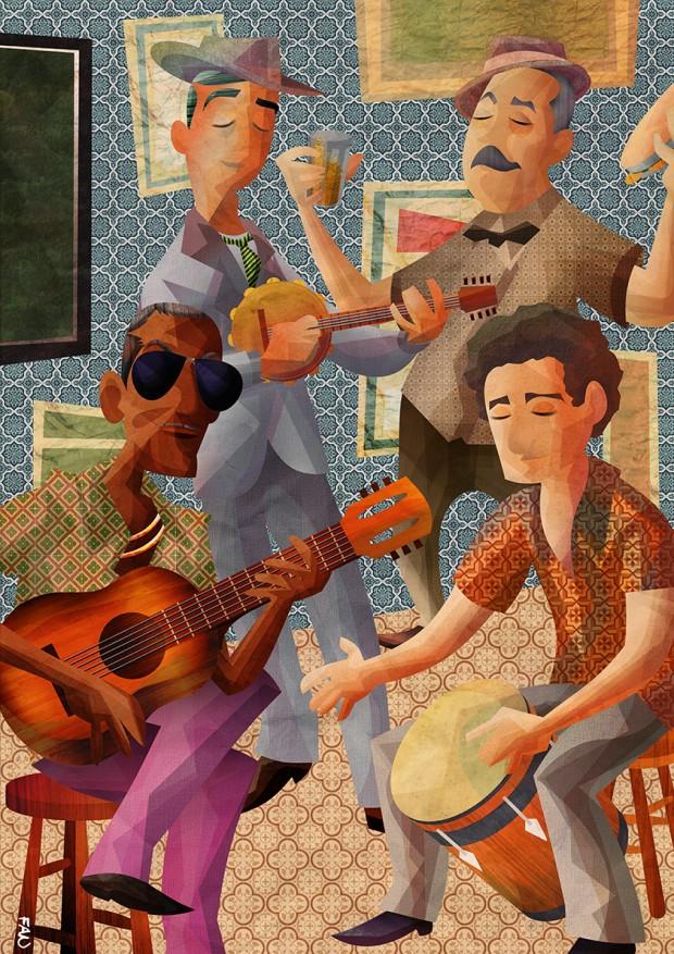 Ilustrações No Arco da Lapa