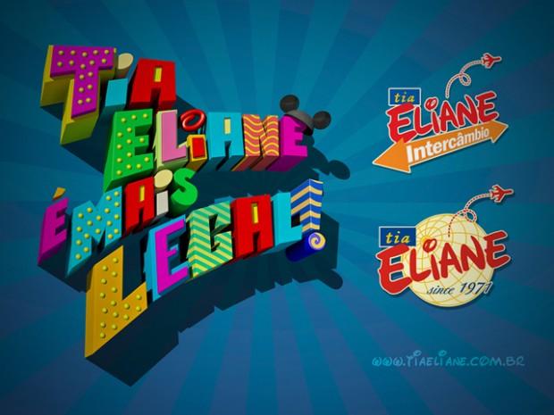 Criação da Logomarca 3D Tia Eliane é Mais Legal