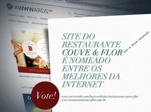 Web Site Restaurante Couve & Flor possui sistema de cardápio on-line