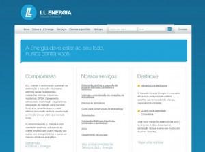 LL Energia - Criação de marca, identidade visual, web site e folder