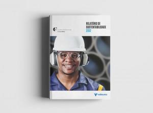 Projeto gráfico e diagramação de Relatório de Sustentabilidade Vallourec