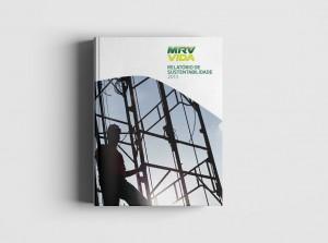 Projeto gráfico e diagramação de Relatório de Sustentabilidade MRV