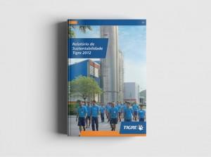 Projeto gráfico e diagramação de Relatório de Sustentabilidade Tigre